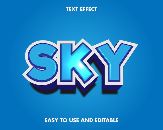 Sky text effect modern style.