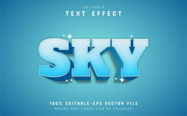 Sky text effect