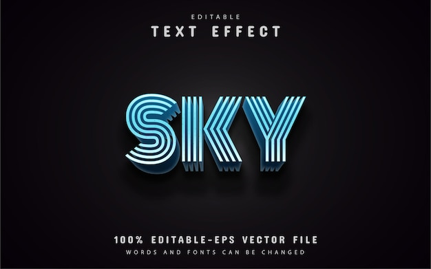 Sky text effects