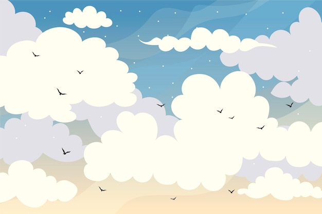 Sky wallpaper for video calls