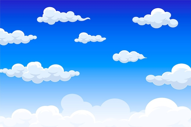 Sky wallpaper for video conference