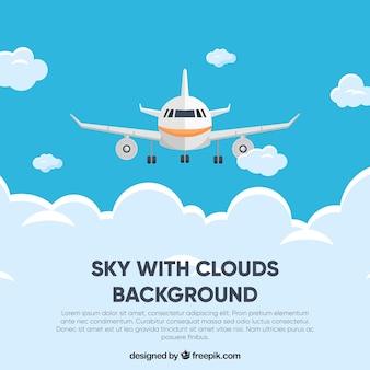 Cielo con sfondo di nuvole