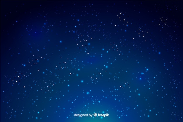 Sky with stars in a gradient backdrop