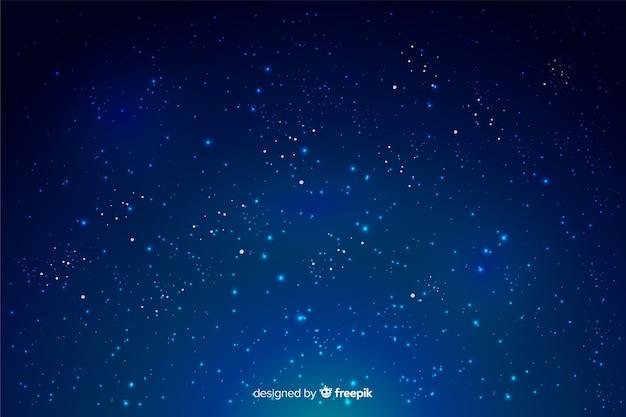 グラデーション背景の星と空