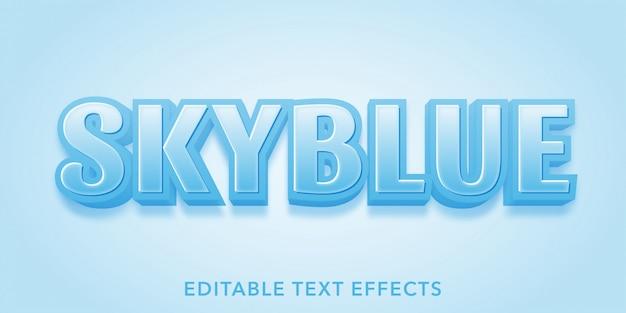 Skyblue editable text effects