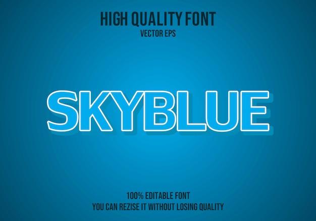 Skyblue vector editable text effect