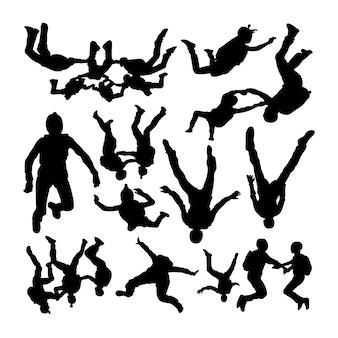 Прыжки с парашютом силуэты