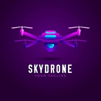 Skydrone gradient logo template