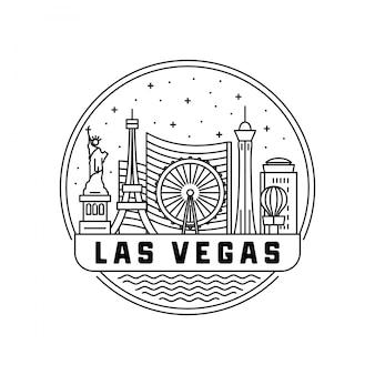 Лас-вегас skyline badge