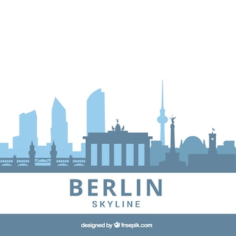 Skyline of berlin in blue tones