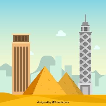 Skyline of cairo, egypt