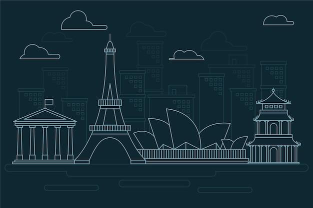 Skyline concept in outline design