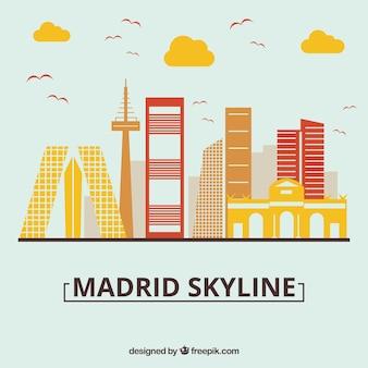 Skyline design of madrid