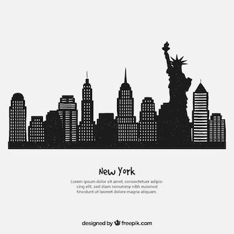 Skyline design of new york