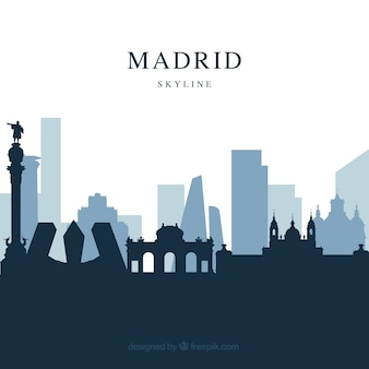 Skyline design of madrid