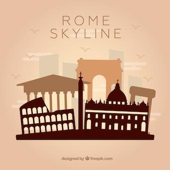 로마의 스카이 라인 디자인