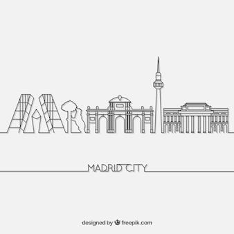 Skyline of madrid