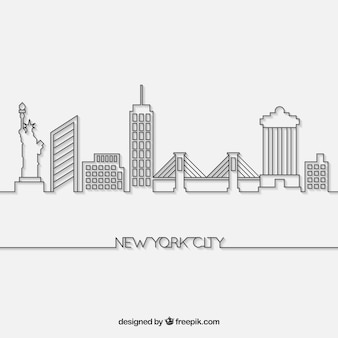 Skyline of new york city