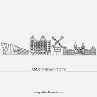 Skyline of amsterdam