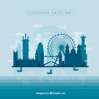 Скайлайн лондона в синих тонах