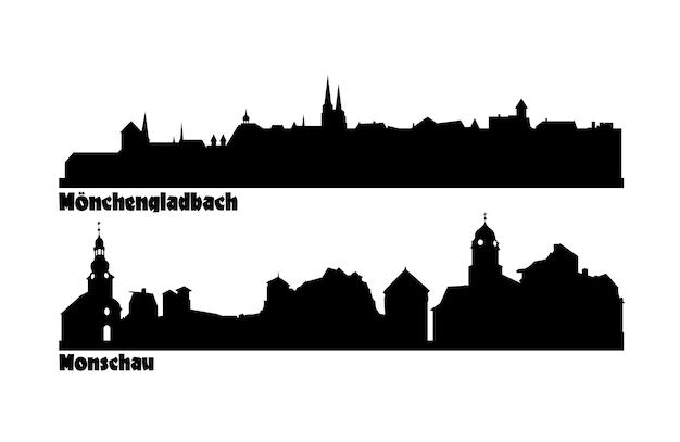독일에있는 관광 도시의 스카이 라인.
