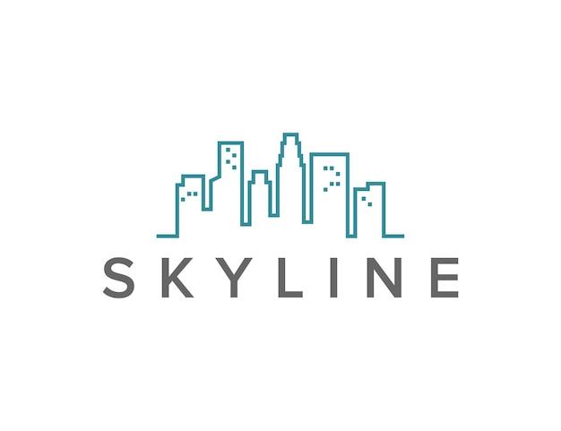 スカイラインのアウトラインシンプルで洗練された創造的な幾何学的なモダンなロゴデザイン