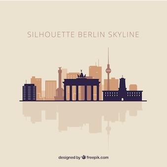 Skyline silhouette of berlin