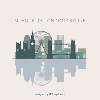 Skyline silhouette of london