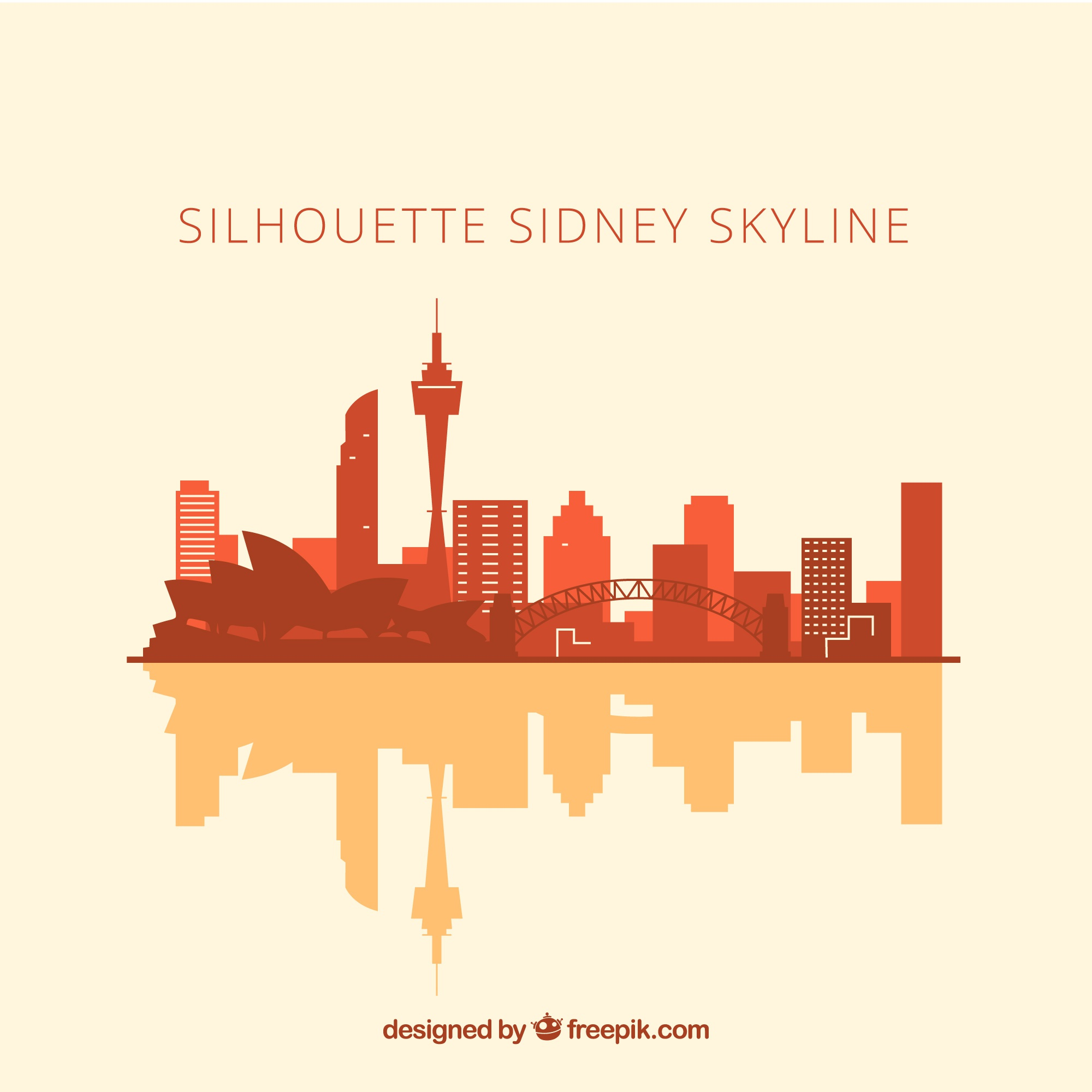 Skyline silhouette of sidney