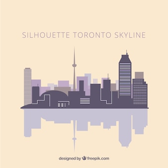 Skyline silhouette of toronto