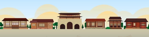 Корейские традиционные дома skyline