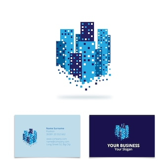 Skyscrapers business card