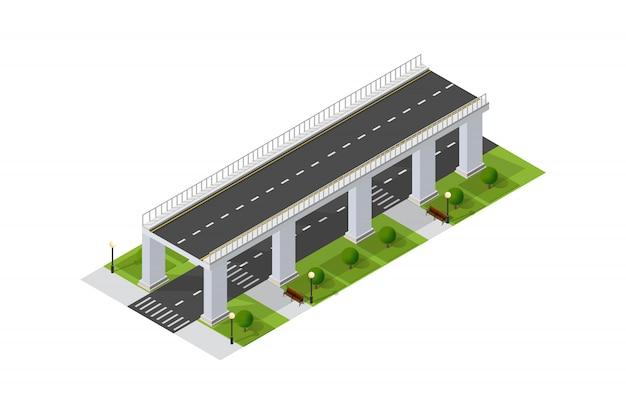 Мост skyway городской инфраструктуры
