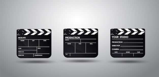 Slate of director film collection. illustration vector eps10.