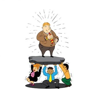 Slave leader illustration
