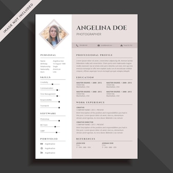 Sleek brown resume template