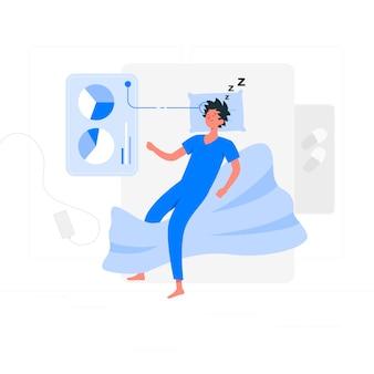 Sleep analysis illustration concept