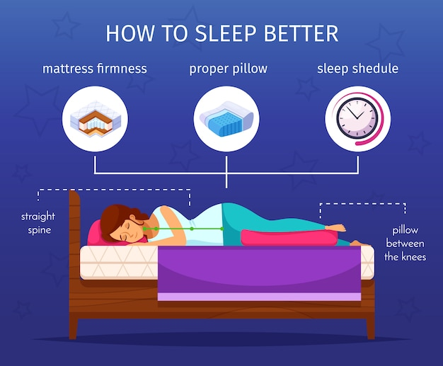 Sleep better infographic composition