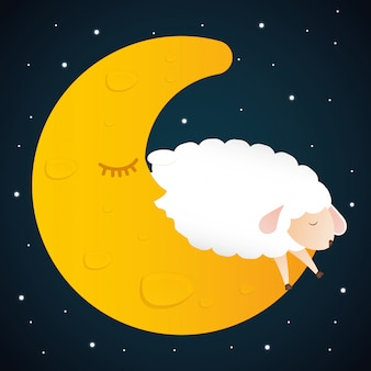 Sleep design. illuistration