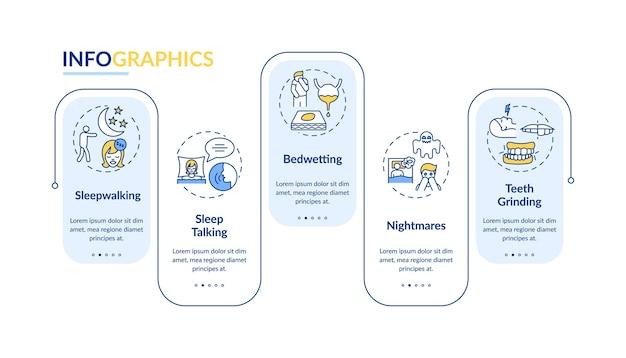 Шаблон инфографики расстройств сна