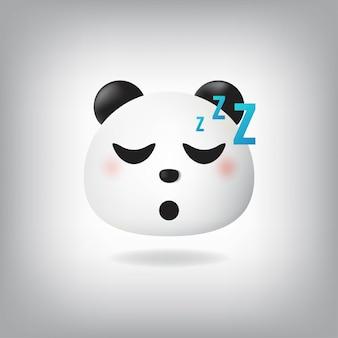 睡眠パンダの絵文字