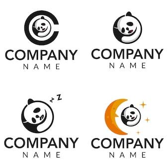 Коллекция логотипов sleep panda