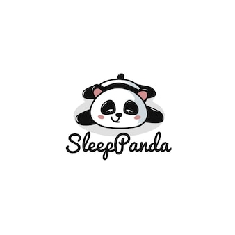 Sleep panda logo template