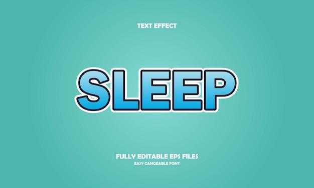 Sleep text effect
