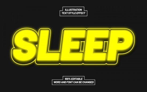 Sleep text style effect