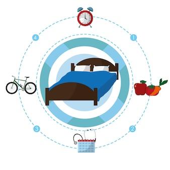Мультфильмы концепции времени сна