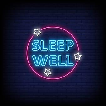Sleep well neon signboard