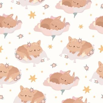 眠っている動物のパターン