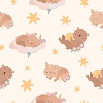 Sleeping animals pattern