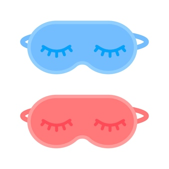 Sleeping mask blindfold for travel rest and healthy eye relaxation at night blue and red mask